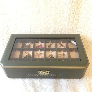 Juicy Couture charm box with 8 charms
